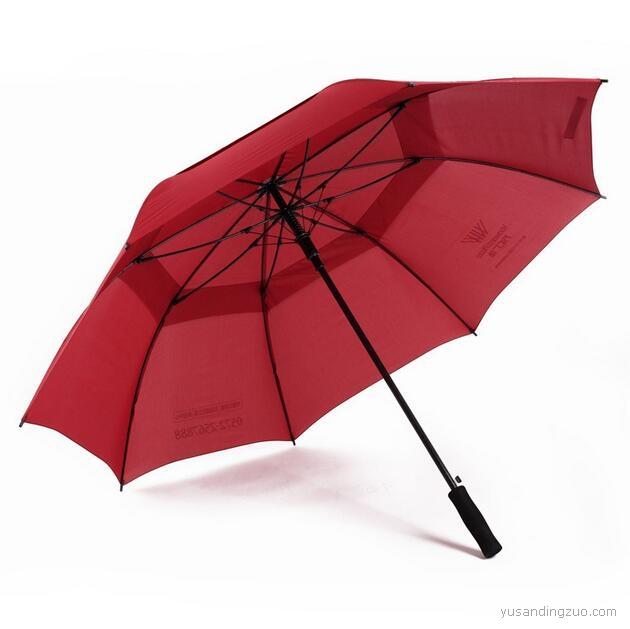厂家定制超大双层高尔夫雨伞