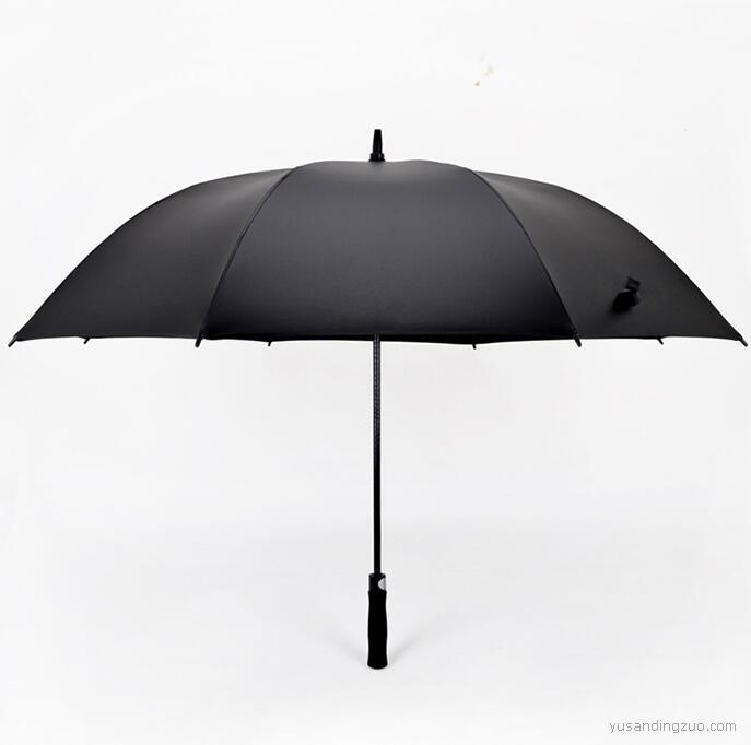 30寸纤维高尔夫伞直杆高档自动广告雨伞
